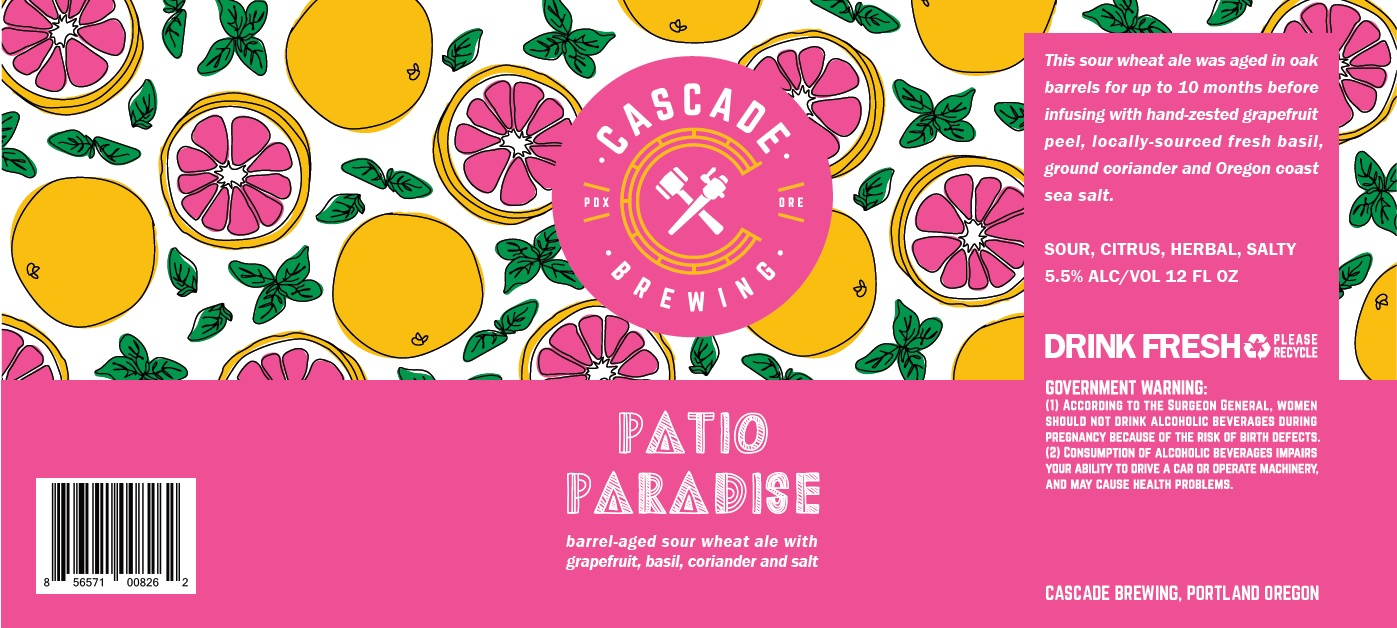 Patio Paradise Label